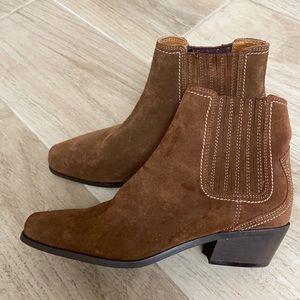 NEW Zara Western Suede Booties